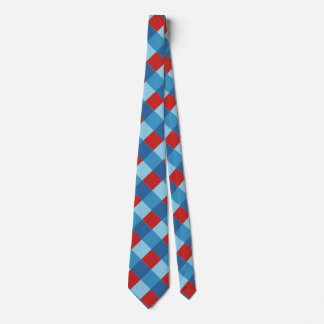 red and blue diagonal stripe pattern tie