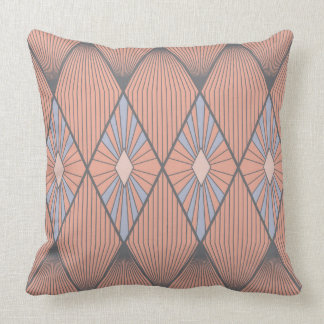 Red and blue diamonds throw pillow