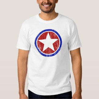 RED AND BLUE DISTRESSED STAR SHIRT