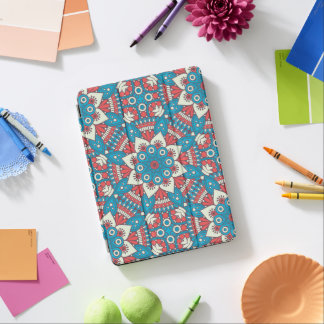 Red and Blue Floral Mandala iPad Pro Cover