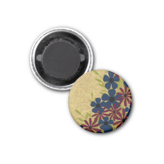 Red and Blue Flower Magnet