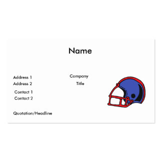 red and blue football helmet graphic pack of standard business cards