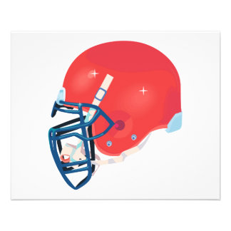 red and blue football helmet vector graphic 11.5 cm x 14 cm flyer