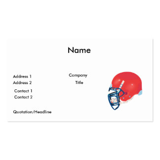 red and blue football helmet vector graphic pack of standard business cards