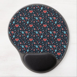 Red and Blue Hearts Pattern Gel Mouse Pad