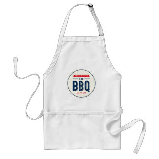 Red and Blue I Do BBQ Engagement Party Standard Apron