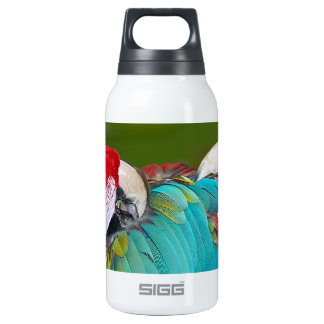 Red and blue macaw parrot print 0.3L insulated SIGG thermos water bottle