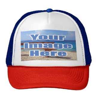 Red And Blue Make Your Own Custom Personalized Cap