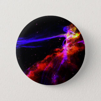 Red and Blue Nebula 6 Cm Round Badge