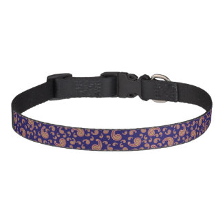 Red and Blue Paisley Dog Collar