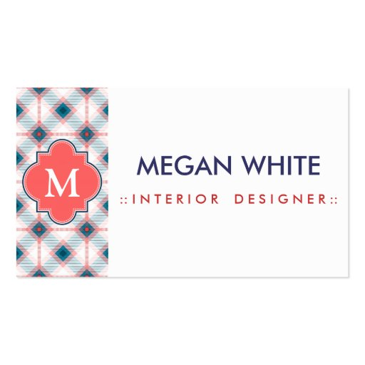 Red and Blue Plaid Business Cards