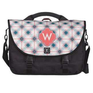 Red and Blue Plaid Laptop Commuter Bag