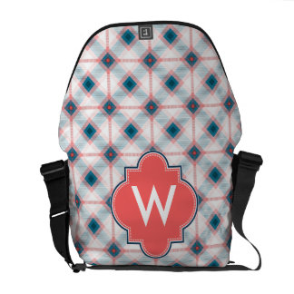 Red and Blue Plaid Messenger Bags