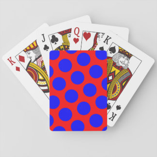 Red and Blue Polka Dots Playing Cards