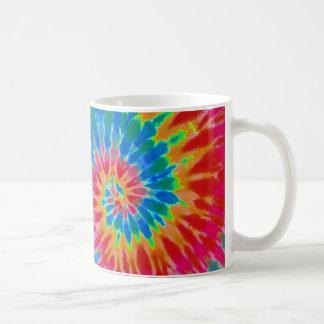 Red and Blue Rainbow Spiral Tie Dye Mug