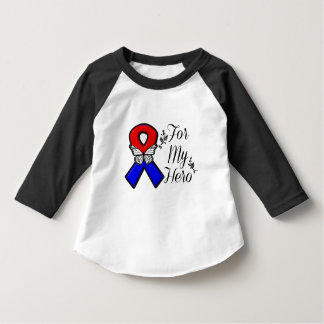 Red and Blue Ribbon For My Hero T-shirt