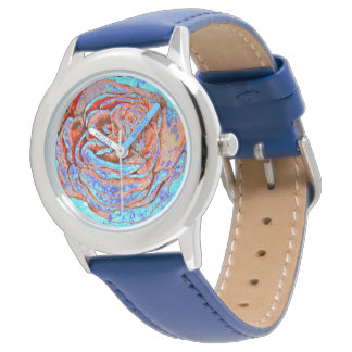 Red and Blue Rose Wristwatches