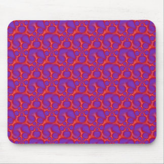 Red and Blue Spiral Holes Mousepad