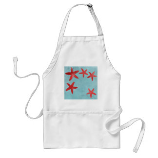Red and Blue Starfish Aprons