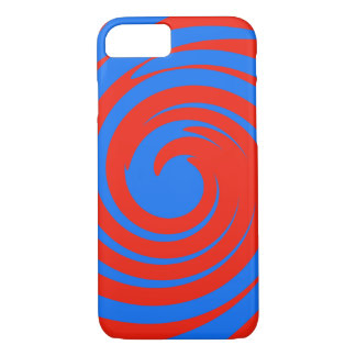 Red and blue swirl iPhone 8/7 case
