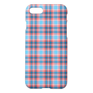 Red and blue tartan iPhone 7 case