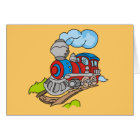 Red and Blue Train Tshirts and Gifts Card