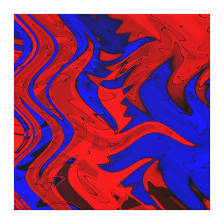 Red and Blue True Canvas Print