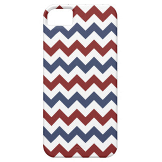 Red and Blue Zig Zag Pattern iPhone 5 Covers