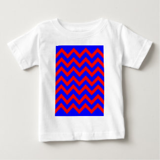 Red and Blue Zig Zags Baby T-Shirt