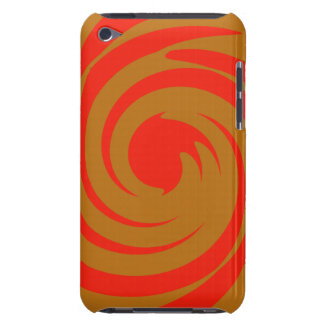 Red and brown swirl iPod touch cover