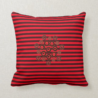 Red and burgundy striped square accent pillow! throw pillow