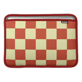 Red and Cream Checkered MacBook Sleeve