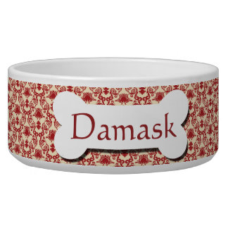 Red and Cream Damask Pattern