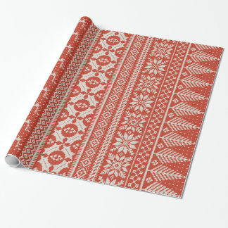 red and cream fair isle knit sweater