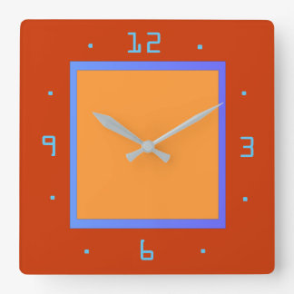 Red and Egg Yellow with Blue Trim > Plain Clocks