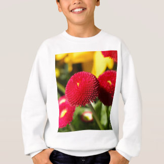 Red and filled cultivated daisies sweatshirt