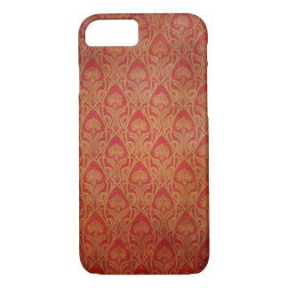 Red and Gold Art Nouveau Damask iPhone 8/7 Case
