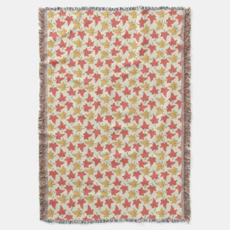Red and Gold Autumn Leaves Throw