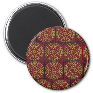 Red and Gold Celtic Knot Fridge Magnet