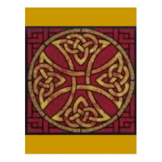 Red and Gold Celtic Knot Postcard