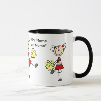 Red and Gold Cheerleader Mug