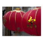 Red and Gold Chinese Lanterns Postcard
