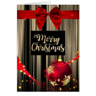 Red and Gold Christmas Greeting Card