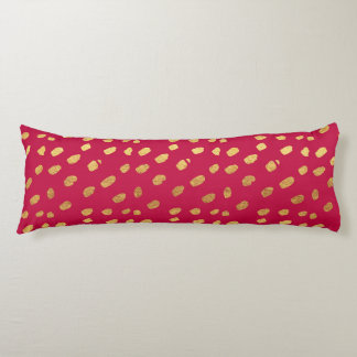 Red and Gold Confetti Body Cushion