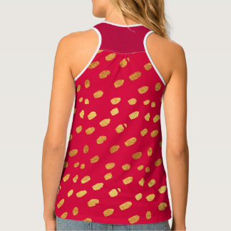 Red and Gold Confetti Singlet