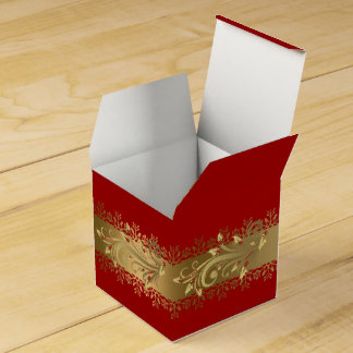 Red and Gold Corporate Holiday Gift Favour Box