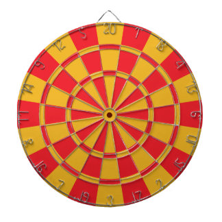Red And Gold Dartboard