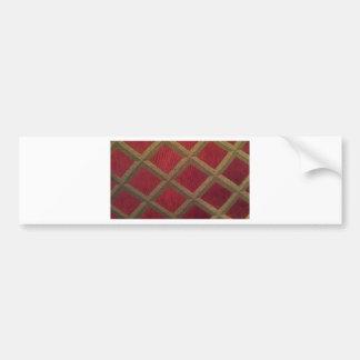 Red and Gold Diamond Bumper Sticker