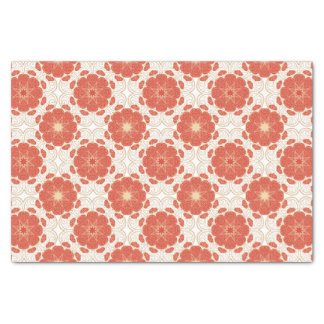 Red And Gold Floral Lace Pattern Tissue Paper