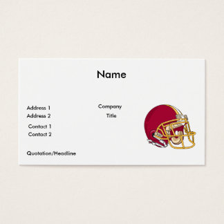 red and gold football helmet vector graphic